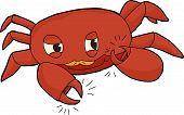 pic of claw  - Cute red crab clicking claws on white background - JPG