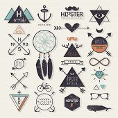 picture of dream-catcher  - Hipster style elements and labels - JPG