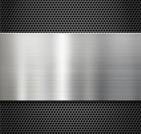 pic of grating  - steel metal plate over comb grate background - JPG