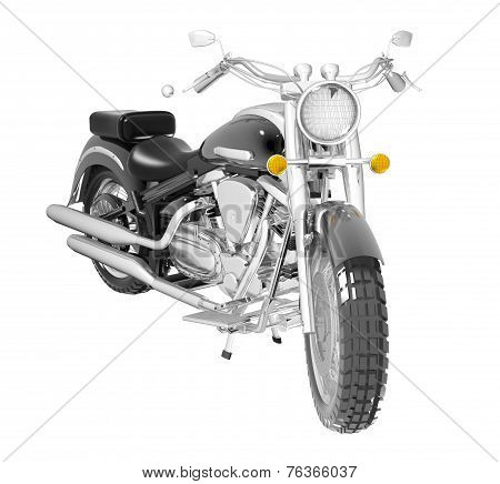 Classic Motorcycle Or Bike Isolated