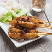 image of hari raya  - Chicken sate or satay - JPG