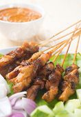 stock photo of sate  - Chicken sate or satay - JPG