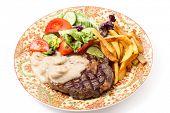 picture of rib eye steak  - Grilled rib - JPG