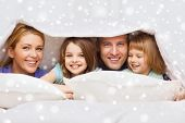pic of blanket snow  - family - JPG