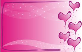 stock photo of sweet dreams  - Pink hearts borders in a pink lovely background - JPG