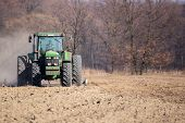 image of plow  - Sowing and plowing action in the spring season - JPG