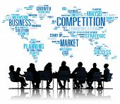 picture of competition  - Competition Market Global Challenge Contest Concept - JPG