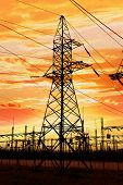 picture of power transmission lines  - High - JPG