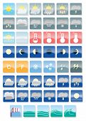 picture of windy weather  - a set of weather full color icons - JPG