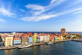 stock photo of curacao  - Panoramic view of downtown Willemstad - JPG