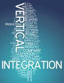 image of upstream  - Word Cloud with Vertical Integration related tags - JPG