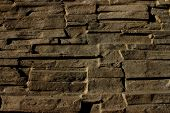 picture of fortified wall  - stone wall folded wall of stone slabs background - JPG
