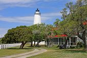 foto of outer  - Okracoke lighthouse in the Outer Banks - JPG
