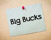 picture of  bucks  - Big Bucks Message - JPG