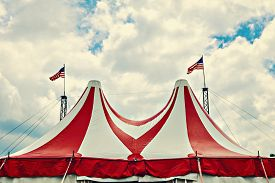 picture of circus tent  - Vintage circus tent - JPG
