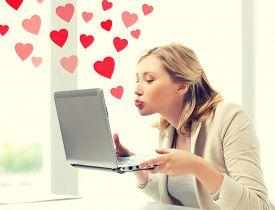 image of office romance  - virtual relationships - JPG