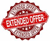 image of extend  - extended offer red round grunge stamp on white - JPG