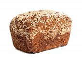 pic of whole-grain  - Fresh whole grain bread isolated on white background - JPG