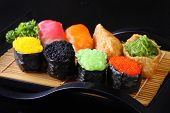 Постер, плакат: Colorful Sushi and Sushi rolls