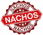 foto of nachos  - nachos red round grunge stamp on white - JPG