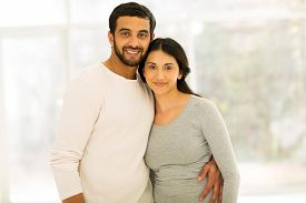 pic of indian  - lovely indian couple portrait indoors - JPG