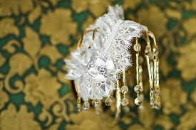 foto of garter-belt  - Beautiful wedding  bridal garter - JPG
