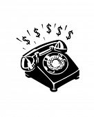 Money Phone - Retro Clip Art