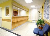 pic of medical office  - reception in hospital - JPG