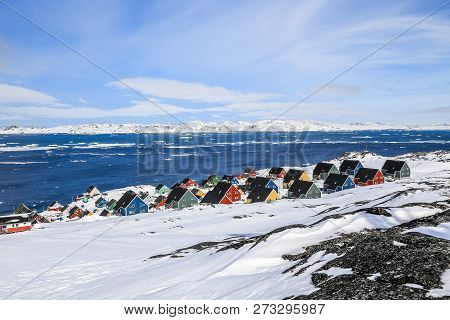 Colorful Inuit Houses At The