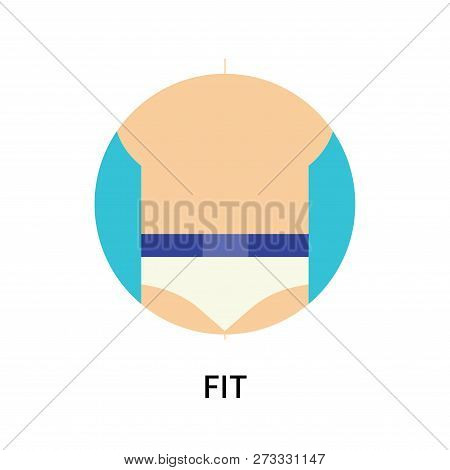 poster of Fit Icon Isolated On White Background. Fit Icon Simple Sign. Fit Icon Trendy And Modern Symbol For G