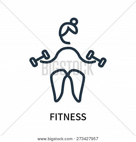 poster of Fitness Icon Isolated On White Background. Fitness Icon Simple Sign. Fitness Icon Trendy And Modern