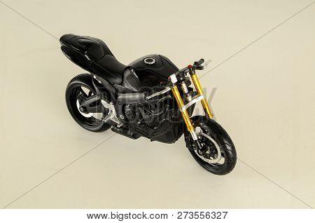 Closeup Of Toy Motorbike Object
