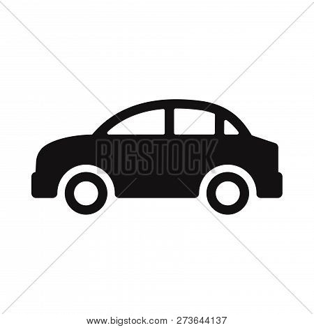 poster of Car Icon Isolated On White Background. Car Icon In Trendy Design Style. Car Vector Icon Modern And S