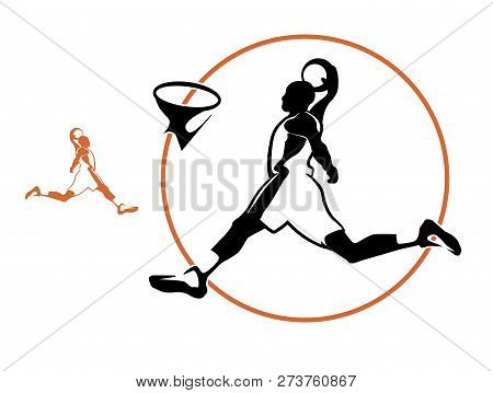 Basketball Player Vector Silhouette Vector