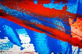 Abstract Red And Blue Hand Painted Acrylic Background, Creative Abstract Hand Painted Colorful Backg poster