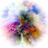 Modern Colorful Paint Splash Explosion poster