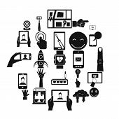 Touch Screen Icons Set. Simple Set Of 25 Touch Screen Vector Icons For Web Isolated On White Backgro poster