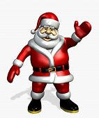 pic of santa-claus  - 3d render of santa claus waving - JPG