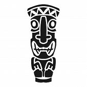 Tahiti Culture Idol Icon. Simple Illustration Of Tahiti Culture Idol Vector Icon For Web Design Isol poster
