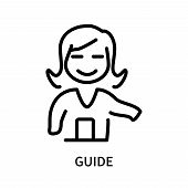 Guide Icon Isolated On White Background. Guide Icon Simple Sign. Guide Icon Trendy And Modern Symbol poster