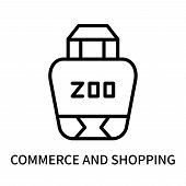 Commerce And Shopping Icon Isolated On White Background. Commerce And Shopping Icon Simple Sign. Com poster