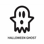 Halloween Ghost Icon Isolated On White Background. Halloween Ghost Icon Simple Sign. Halloween Ghost poster