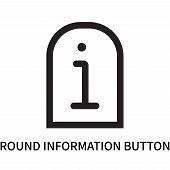 Round Information Button Icon Isolated On White Background. Round Information Button Icon Simple Sig poster