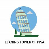 Leaning Tower Of Pisa Icon Isolated On White Background. Leaning Tower Of Pisa Icon Simple Sign. Lea poster