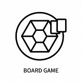 Board Game Icon Isolated On White Background. Board Game Icon Simple Sign. Board Game Icon Trendy An poster