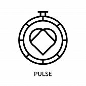 Pulse Icon Isolated On White Background. Pulse Icon Simple Sign. Pulse Icon Trendy And Modern Symbol poster