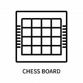 Chess Board Icon Isolated On White Background. Chess Board Icon Simple Sign. Chess Board Icon Trendy poster