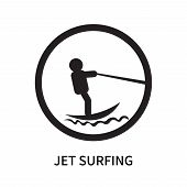 Jet Surfing Icon Isolated On White Background. Jet Surfing Icon Simple Sign. Jet Surfing Icon Trendy poster