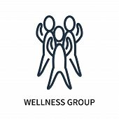 Wellness Group Icon Isolated On White Background. Wellness Group Icon Simple Sign. Wellness Group Ic poster