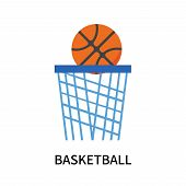 Basketball Icon Isolated On White Background. Basketball Icon Simple Sign. Basketball Icon Trendy An poster